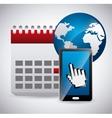 calendar icon app vector image vector image