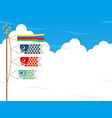 carp streamers for the japanese boys festival vector image vector image