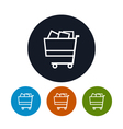 Cart icon basket icon vector image vector image
