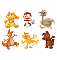 Cartoon Animal Set vector image vector image
