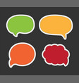cartoon bubble speech - dialog messages vector image