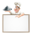 chef cloche and menu vector image