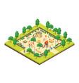 children park concept 3d isometric view vector image vector image