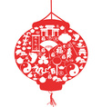 Chinese New Year lantern vector image vector image