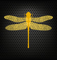 colored stilized dragonfly insect logo design vector image vector image