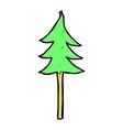 comic cartoon tree symbol vector image vector image