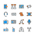 communication device in colorline icon set vector image vector image