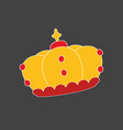 crown on dark grey background vector image