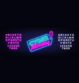 cyber monday sale neon sign monday vector image