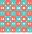 Duotone Hearts Seamless Pattern vector image vector image