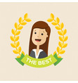 employee of the year award best award wreath for vector image vector image