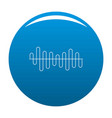 equalizer volume sound icon blue vector image vector image