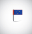 European union flag pin vector image vector image