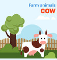 farm animal cow vector image