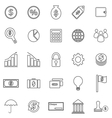 Finance line icons on white background vector image vector image