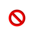 forbidden sign vector image