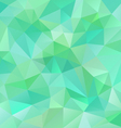 fresh spring green polygon triangular pattern vector image vector image