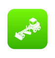 grader icon green vector image