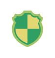 green healthy shield badge vector image