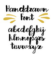handwritten calligraphy font alphabet vector image vector image