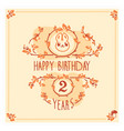 happy birthday greeting card with cute vector image vector image