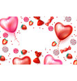 happy valentine day heart balloon candy vector image vector image