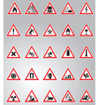hazard signs set vector image vector image