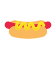 hot dog design vector image vector image