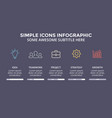 icons minimal infographic text diagram vector image vector image