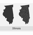 illinois map counties outline vector image vector image
