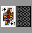 jack of spades playing card and the backside vector image vector image