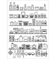 kitchen or pantry shelves vector image vector image