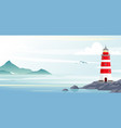 lighthouse with ocean or sea beach view vector image