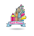 Logo paint vector image