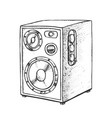 loud speaker for listening music retro vector image