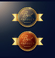 luxury golden label set two badges vector image vector image