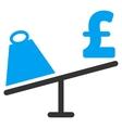 Market Pound Price Swing Flat Icon Symbol vector image