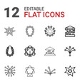 merry icons vector image vector image