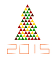 mosaic Christmas tree isolated vector image
