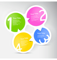 One two three four - progress icons for four steps vector image