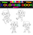 pirate coloring book vector image