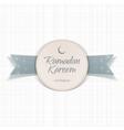 Ramadan Kareem Eid Mubarak textile Label vector image