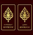restroom golden signs vector image vector image