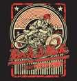 rock and ride speed shop vector image vector image
