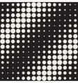 Seamless Black and White Circles Diagonal vector image