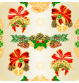seamless texture christmas and new year vector image