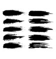 set brush strokes vector image