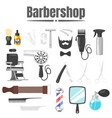 set of barbershop tools vector image
