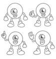 set of cartoon eye vector image