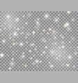 snow and snowflakes bright design element glowing vector image vector image
